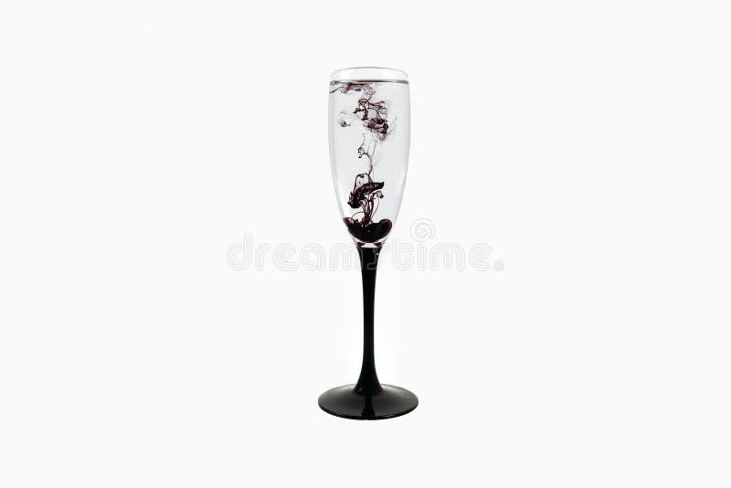 Strook van de van de achtergrond glas de zwarte wijn witte dichte omhooggaande fougere verfrook royalty-vrije stock fotografie