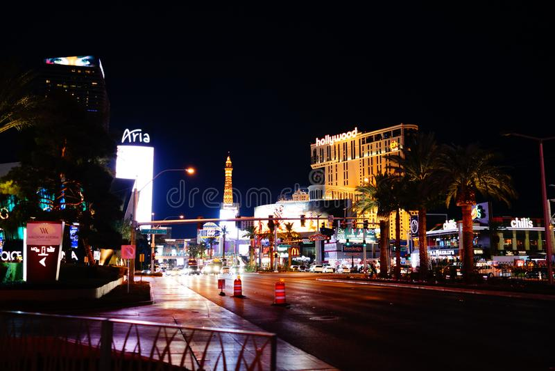 Strook 55 van Las Vegas royalty-vrije stock foto