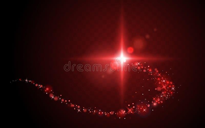 Strook van rood licht vector illustratie