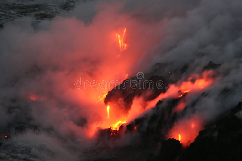 Stroom 1 van de lava stock foto's