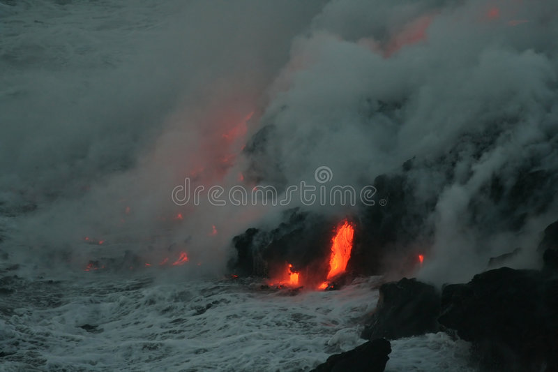 Stroom 5 van de lava stock foto's