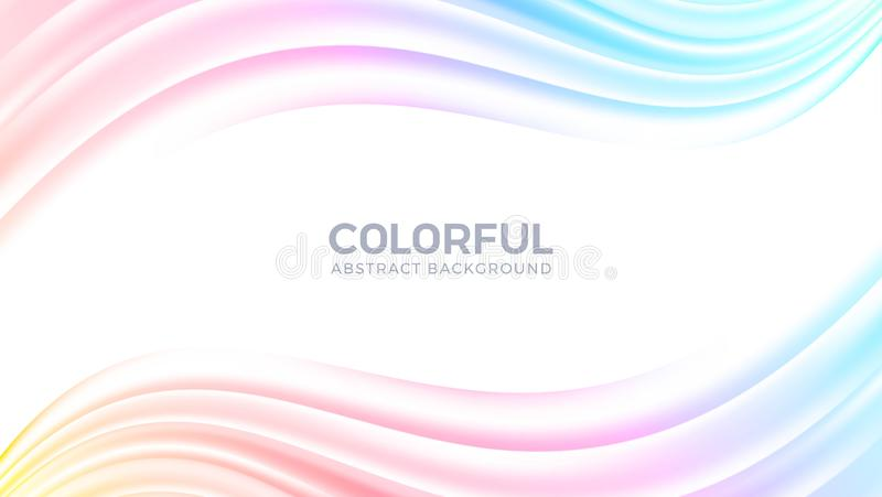 Stroom abstracte kleurrijke achtergrond Creatieve Moderne Dynamische golfachtergrond De vectorachtergrond van de in gradiëntvorm  royalty-vrije illustratie