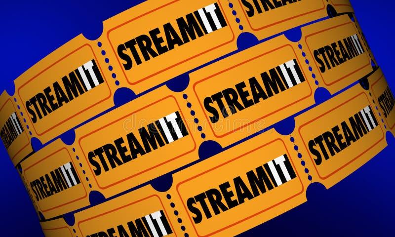 Stroom het van de Filmkaartjes van de Downloadinhoud de Digitale Film vector illustratie