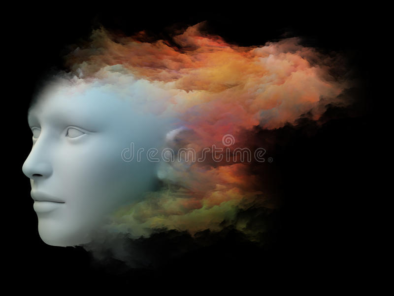 Stroom van bewustzijn stock illustratie