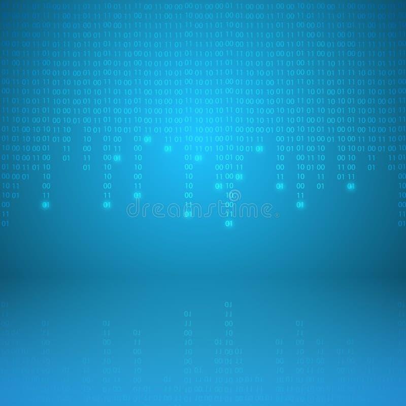 Stroom van binaire code vector illustratie