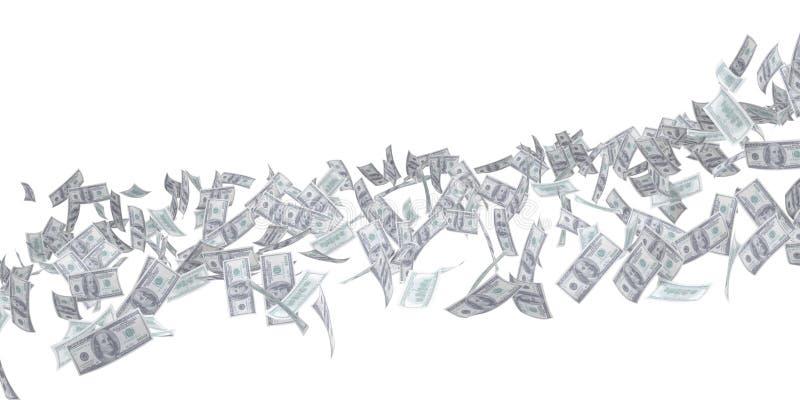 Stroom van geld. Dollar vector illustratie