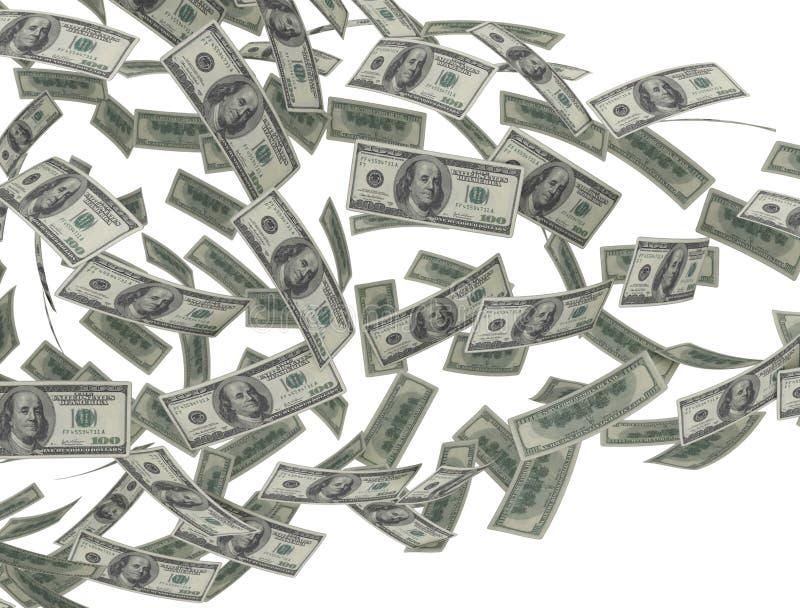 Stroom van geldamerikaanse dollars stock illustratie