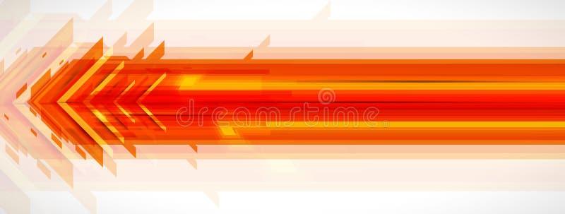 Stroom van pijlen Verbeelding van zaken of technologieproces royalty-vrije illustratie