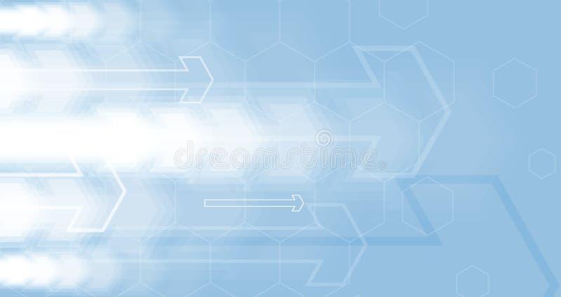 Stroom van pijlen Verbeelding van zaken of technologieproces V royalty-vrije illustratie