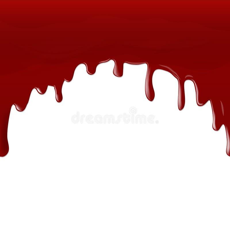 Stroom van rood bloed royalty-vrije illustratie