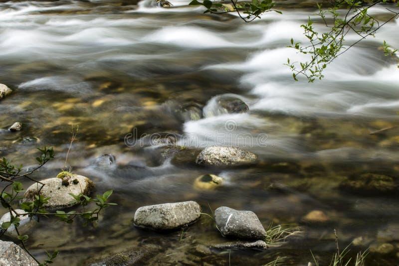 Stroom van snelle rivier stock foto's