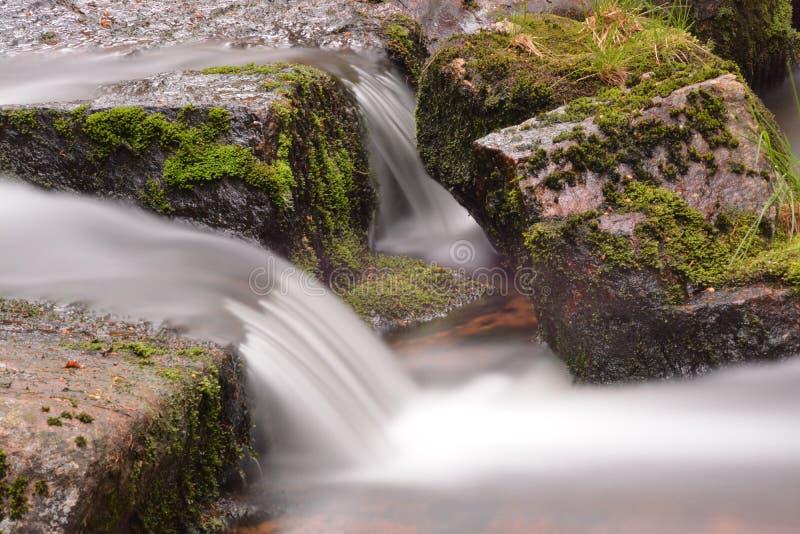 Stroomcursus in de Harz-bergen stock afbeeldingen
