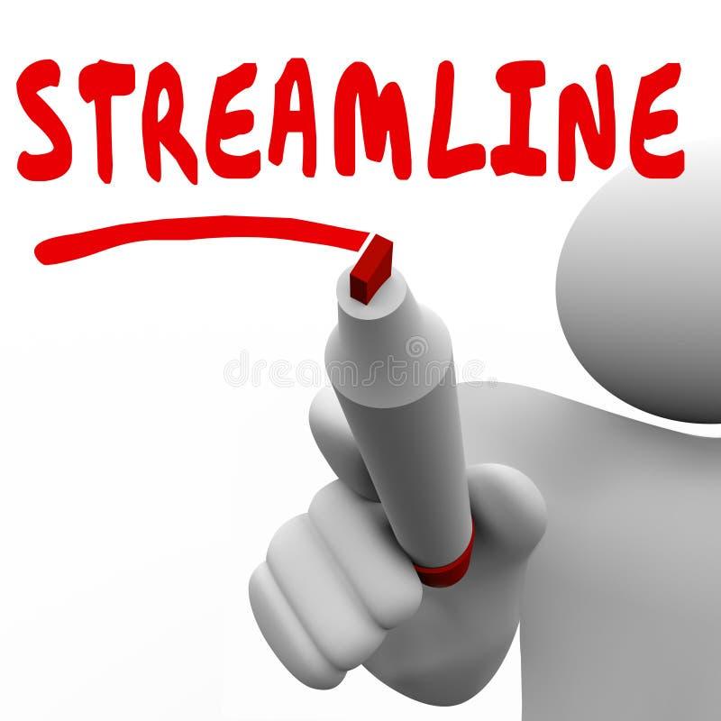 Stroomlijn Word Mens het Schrijven verbeteren Efficiencyproductiviteit stock illustratie