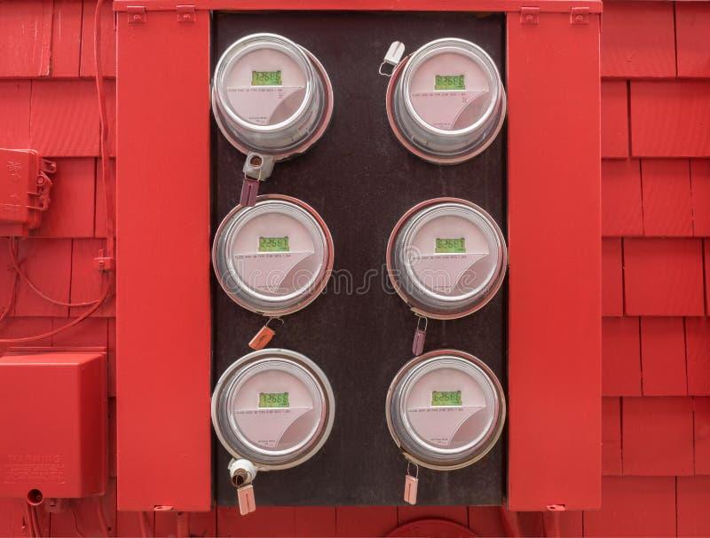Stroommeters stock foto