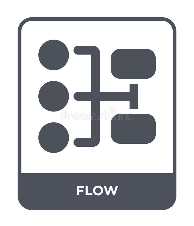 stroompictogram in in ontwerpstijl stroompictogram op witte achtergrond wordt geïsoleerd die eenvoudige en moderne vlakke symbool vector illustratie