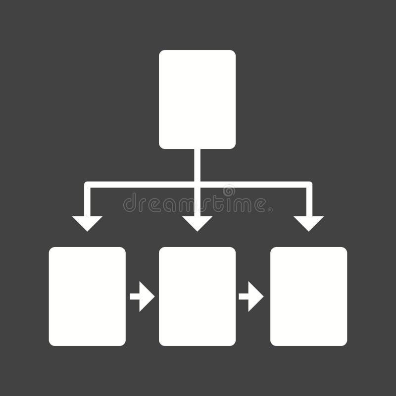 stroomschema royalty-vrije illustratie