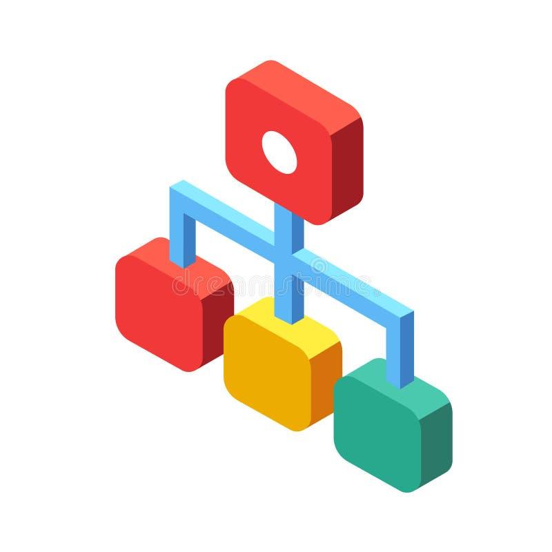 Stroomschema Isometrische Illustratie vector illustratie