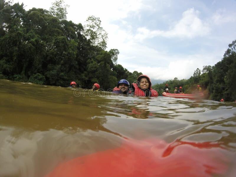 Stroomversnelling Rafting royalty-vrije stock foto