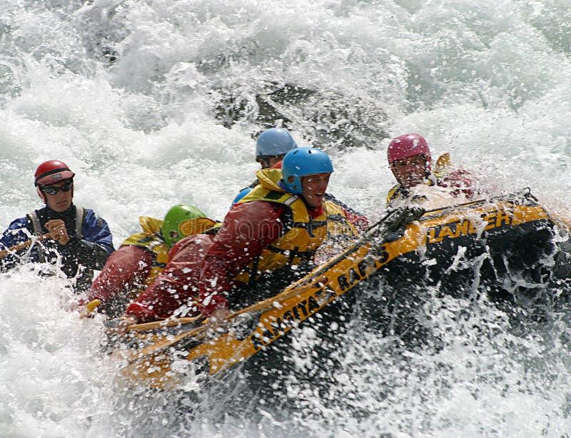 Stroomversnelling Rafting in Nieuw Zeeland royalty-vrije stock foto