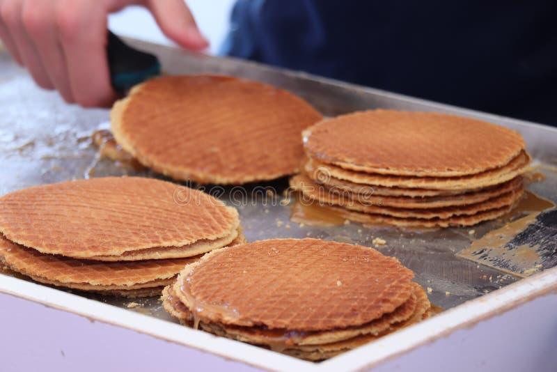 Stroopwafels néerlandais traditionnels photos libres de droits