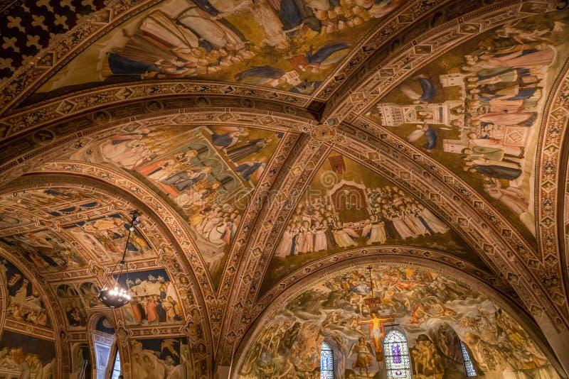 Stropować bazylika StFrancis Assisi Włochy obrazy royalty free