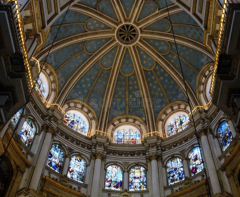Stropować chancel katedra Granada obraz royalty free