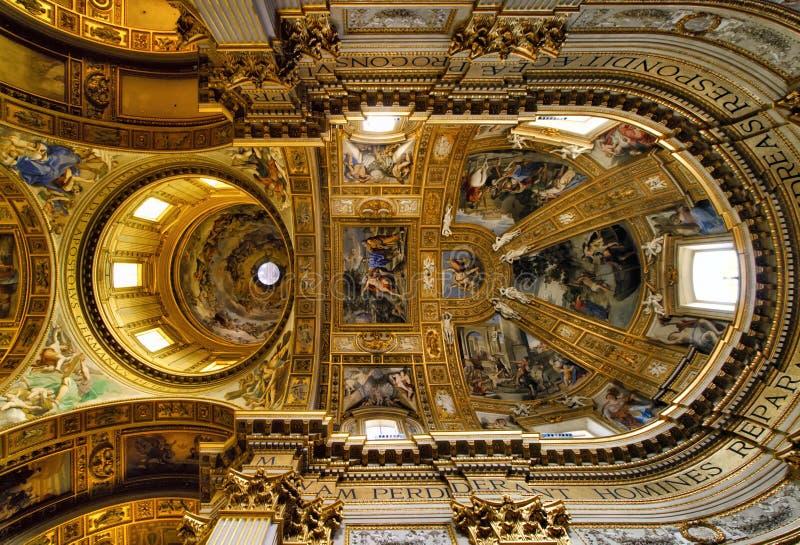 Stropować sant'Andrea della Valle fotografia stock
