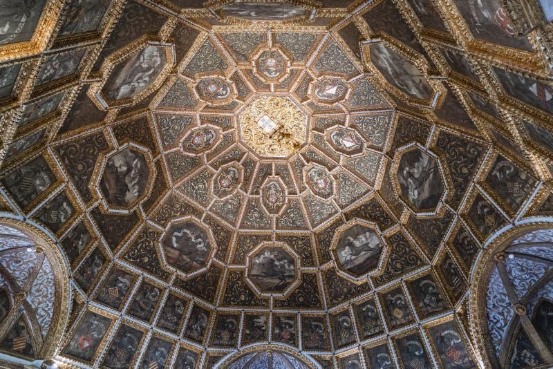 Stropujący w sali Sintra Krajowy pałac, Portugalia zdjęcie stock