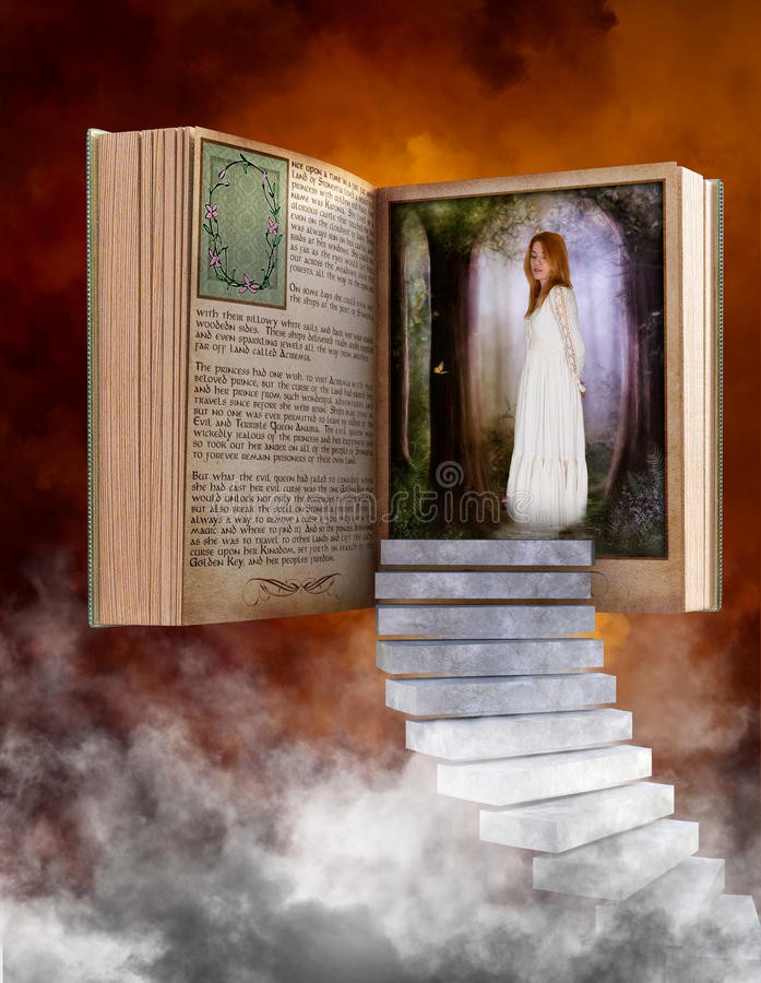 Stroybook,读书,幻想,爱,想象力 库存照片