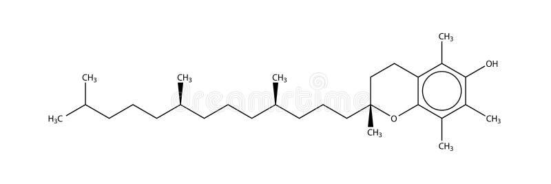 Structural formula of alpha-Tocopherol (vitamin E)