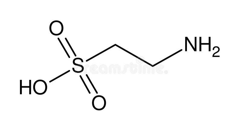 Structural formula of taurine stock photos