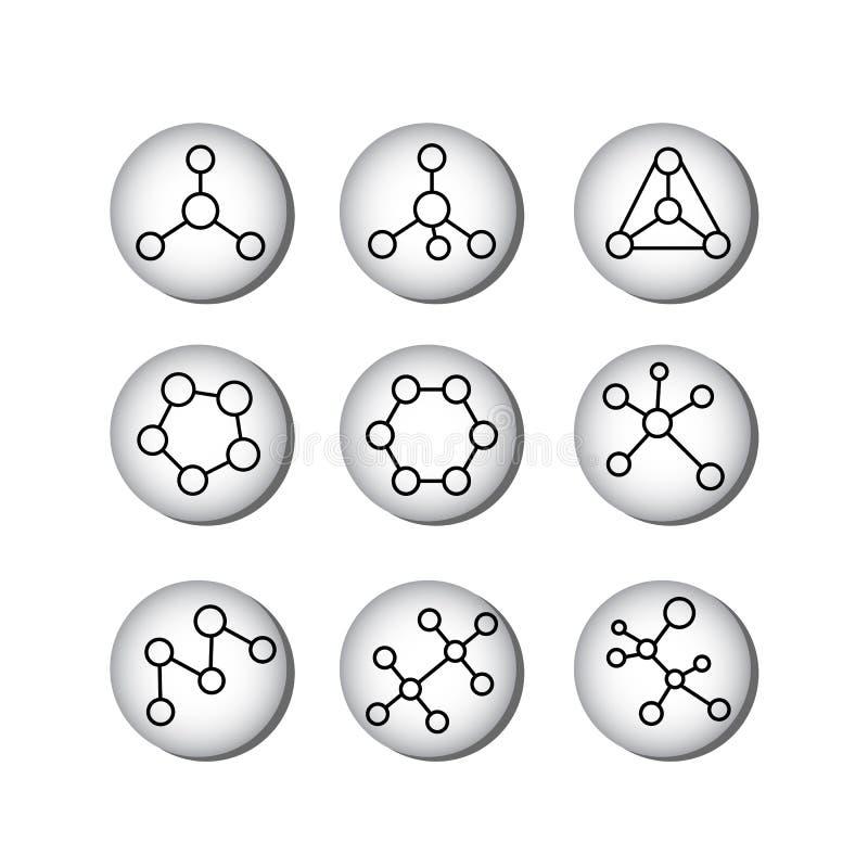 Structural formulas of molecules royalty free illustration