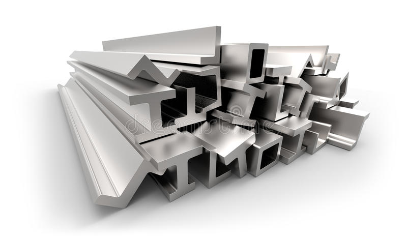 Structural Metal Shapes Stock Illustration Image Of