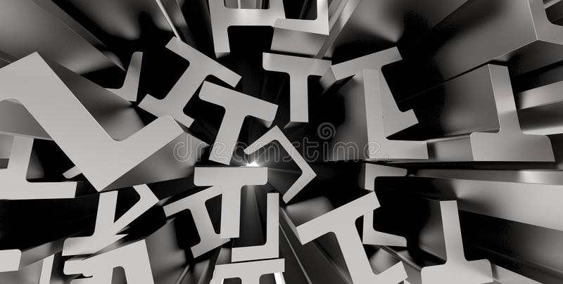 Structural metal shapes stock illustration