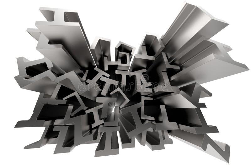 Download Structural metal shapes stock illustration. Illustration of engineering - 27886156