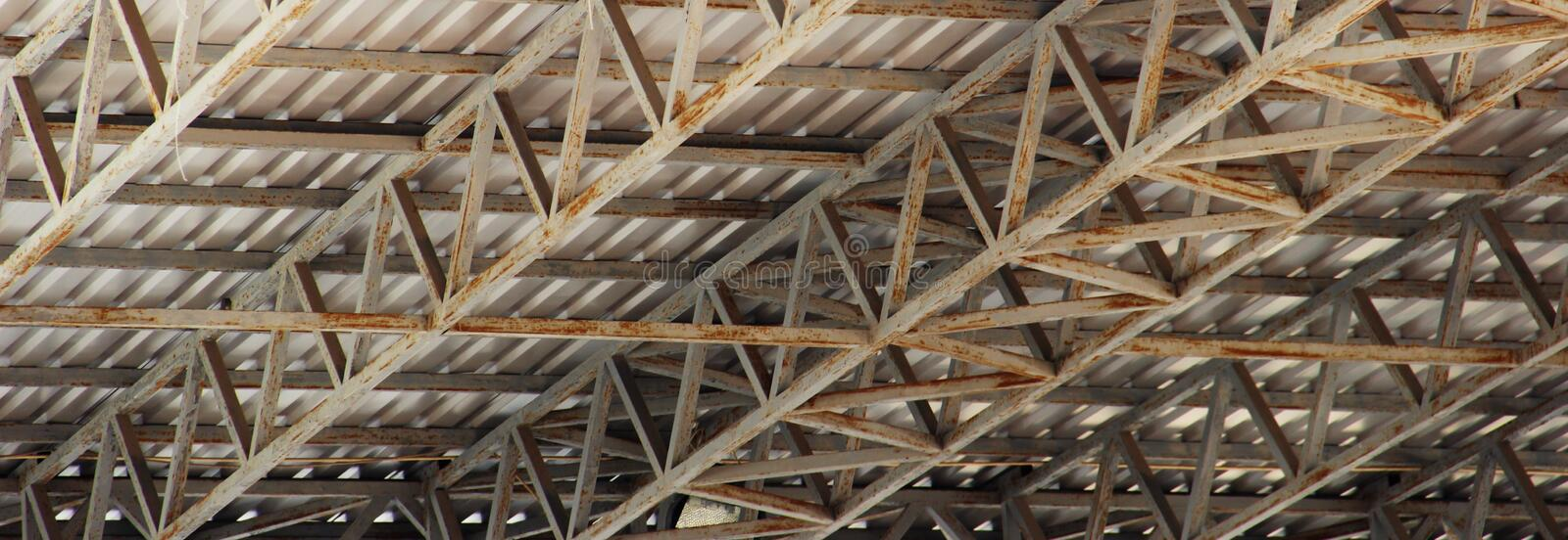Structural steel beam on roof of building residential construction royalty free stock photos