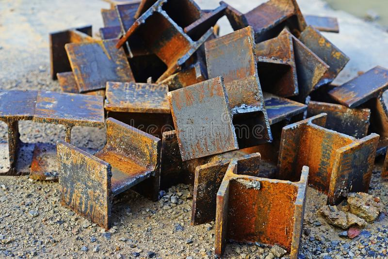 Structural Steel for concrete construction stock photo