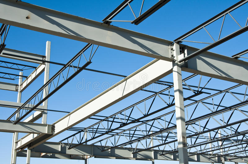 Structural Steel Construction Royalty Free Stock Images