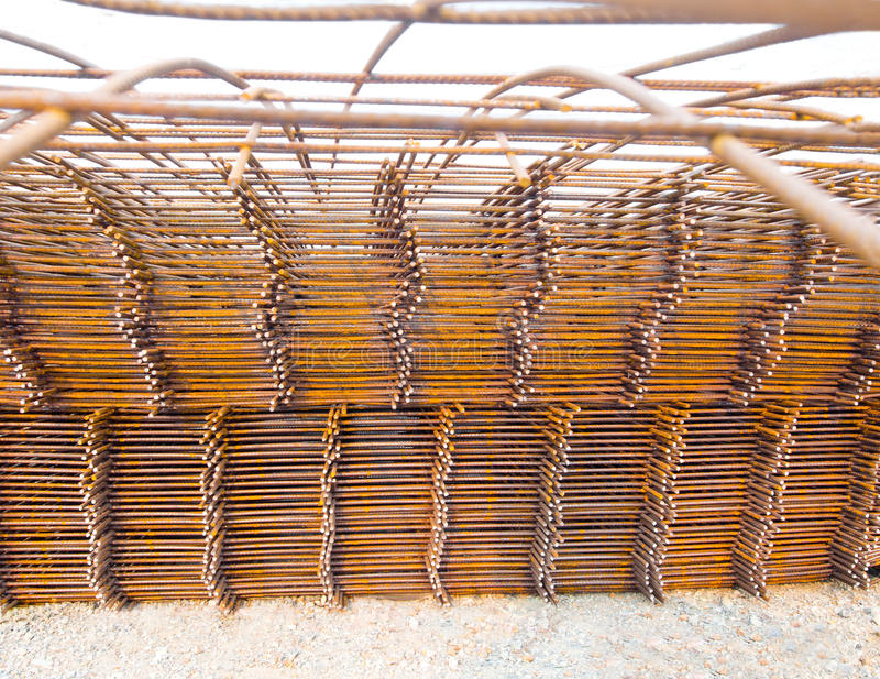 Structural steel in construction. royalty free stock photos