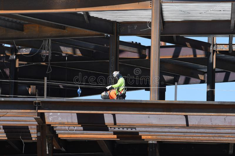 Structural Steel Construction For New Building. royalty free stock images