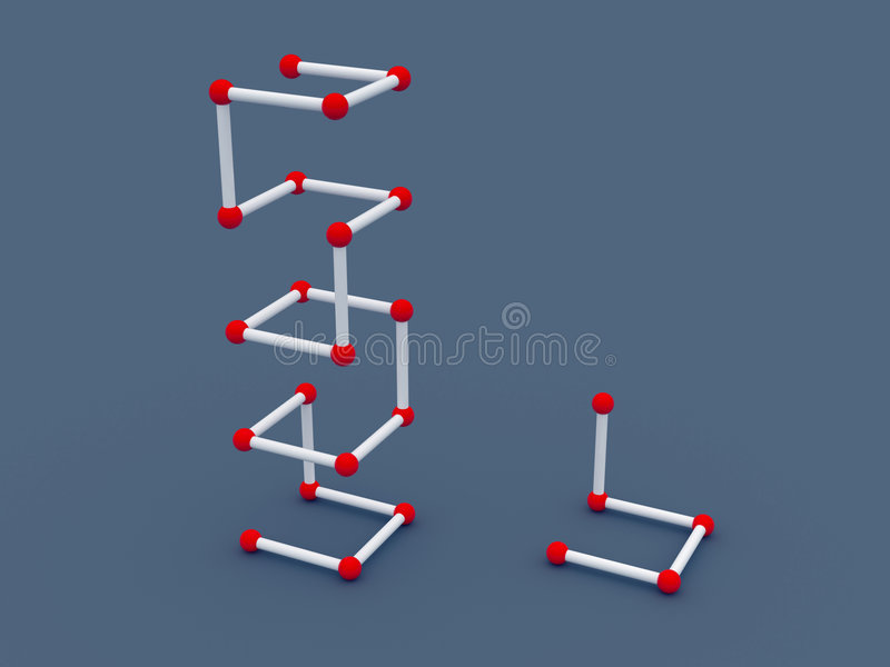 structure 3d illustration de vecteur