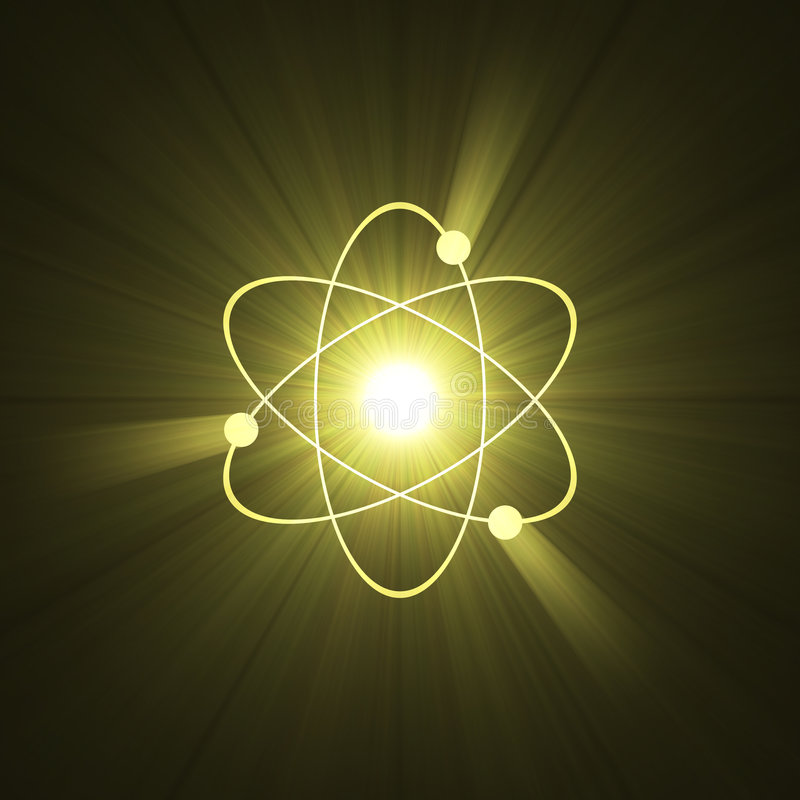 Structure atomique d'atome de symbole illustration libre de droits