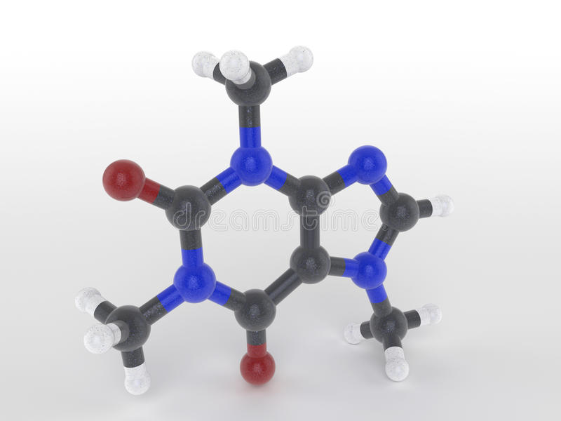 Download Structure Of A Caffeine Molecule Stock Illustration - Image: 35020580