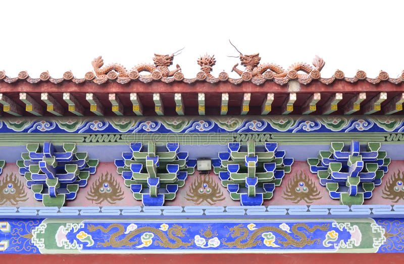 Structure chinoise d'architecture classique images stock