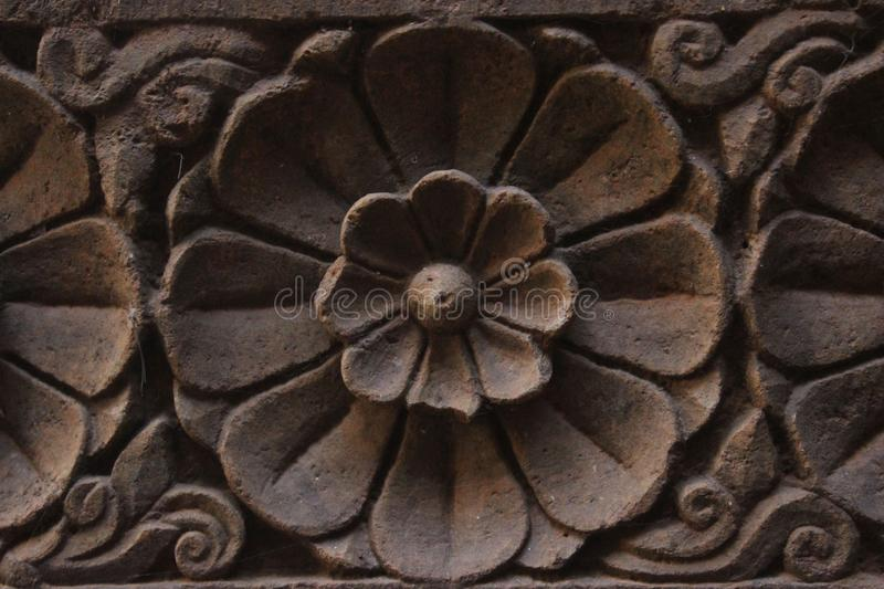 Structure. Click by in temple design the flower stock image