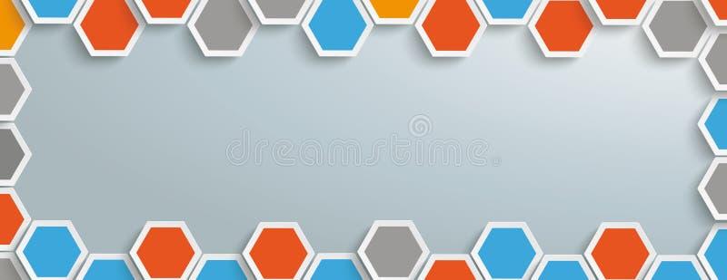Structure colorée Gray Centre Header d'hexagone illustration libre de droits