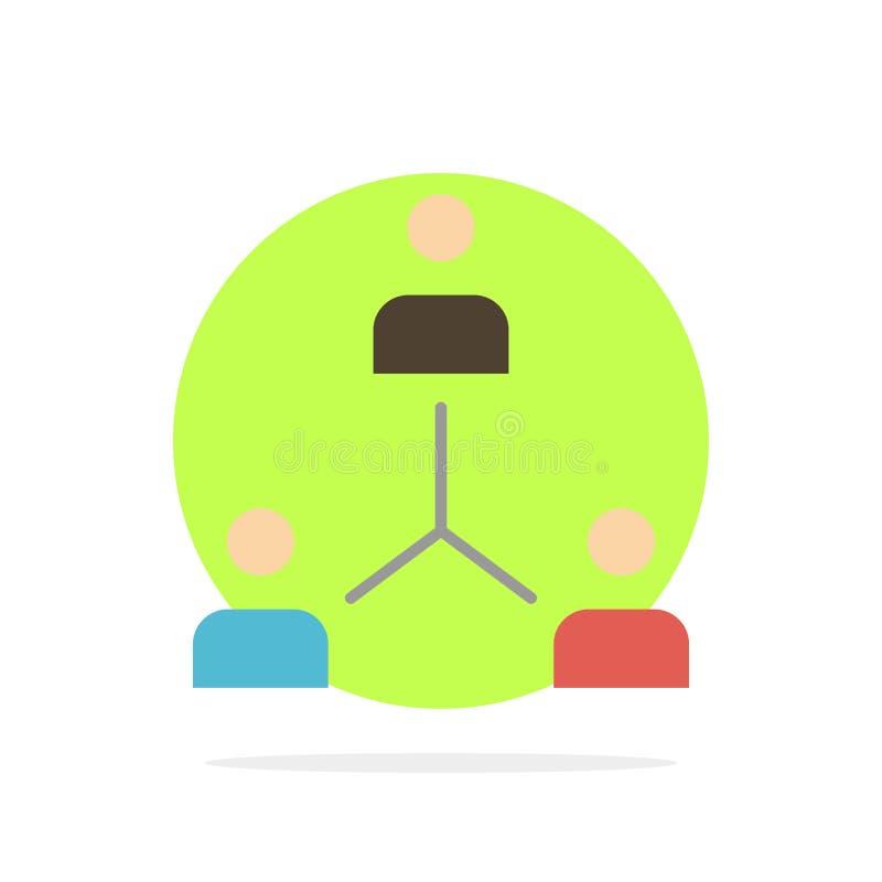 Structure, Company, cooperación, grupo, jerarquía, gente, icono del color de Team Abstract Circle Background Flat ilustración del vector