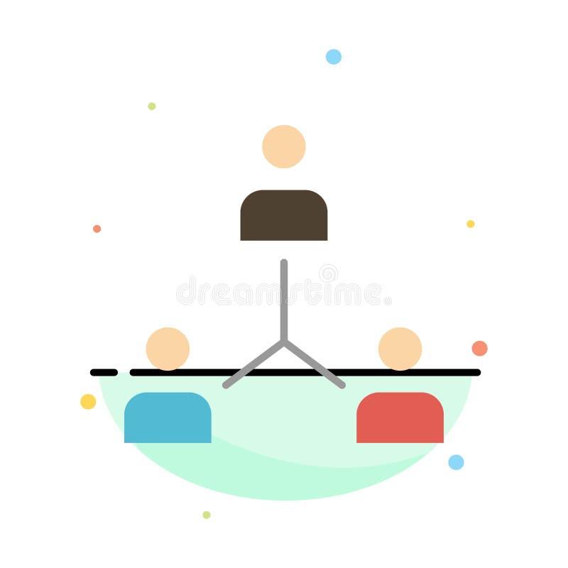 Structure, Company, cooperación, grupo, jerarquía, gente, plantilla de Team Abstract Flat Color Icon ilustración del vector