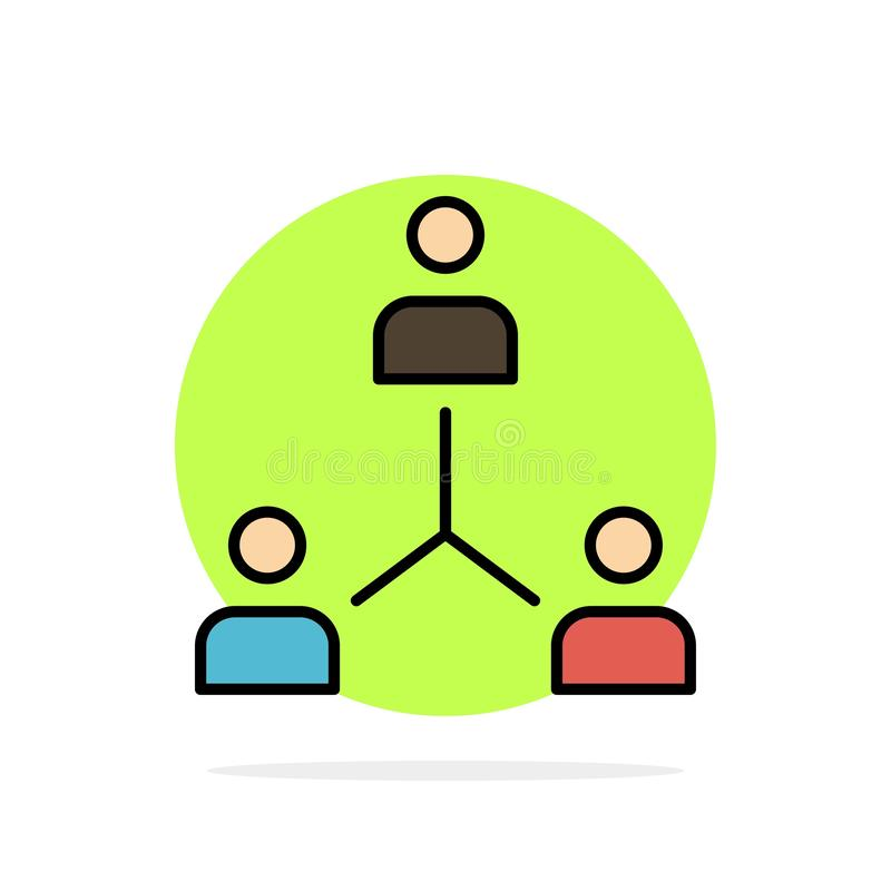 Structure, Company, Cooperation, Group, Hierarchy, People, Team Abstract Circle Background Flat color Icon royalty free illustration