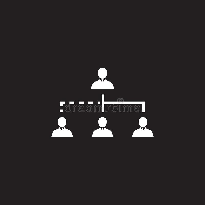 The structure of the company icon. Simple element illustration. Business icons universal for web and mobile. On dark background vector illustration